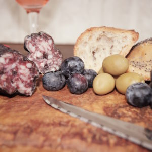 saucisson aux myrtilles