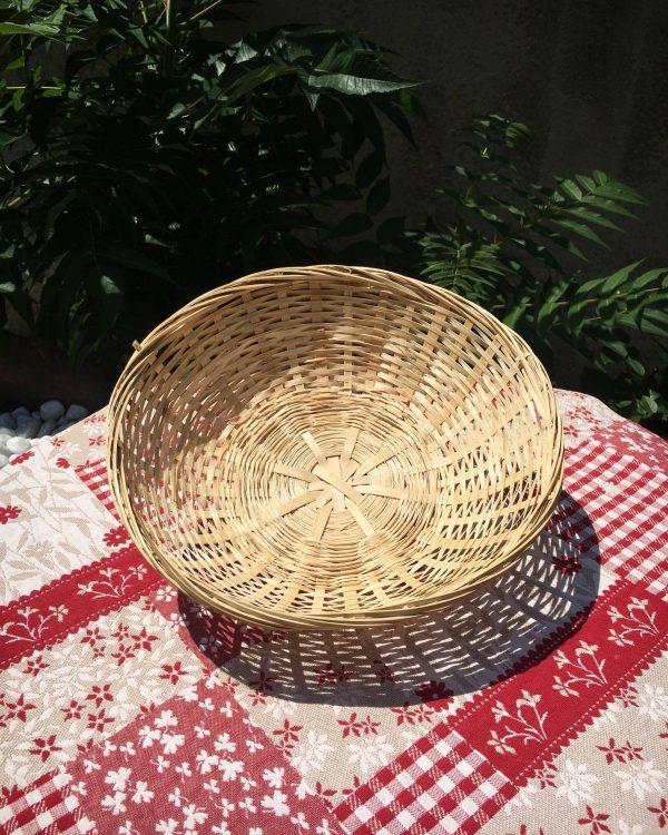 corbeille ronde bambou