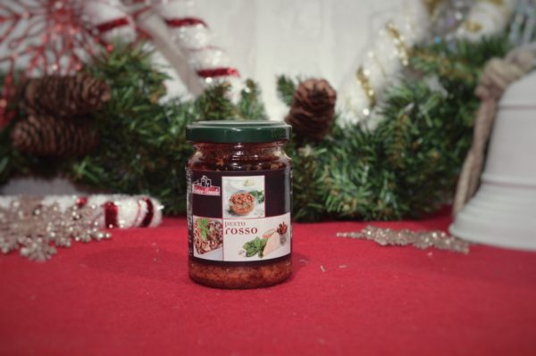 sauce pesto rosso fabriquée en Italie
