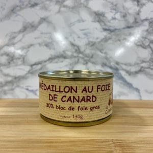 Médaillon au Foie de Canard 130g 30% Bloc de Foie Gras