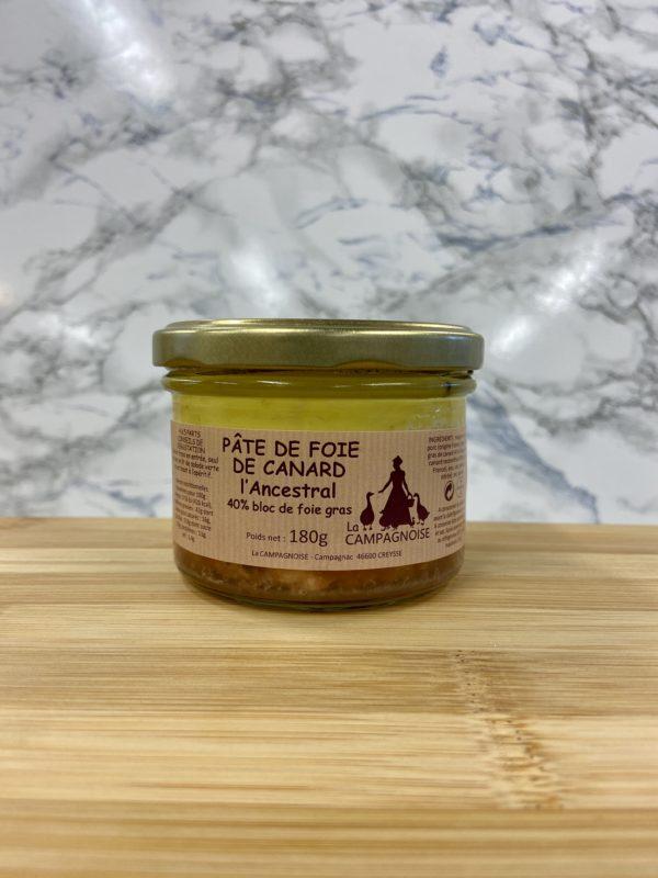Pâté de foie de canard 40% 180g